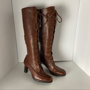 Cole Haan Leather Lace Up Boots